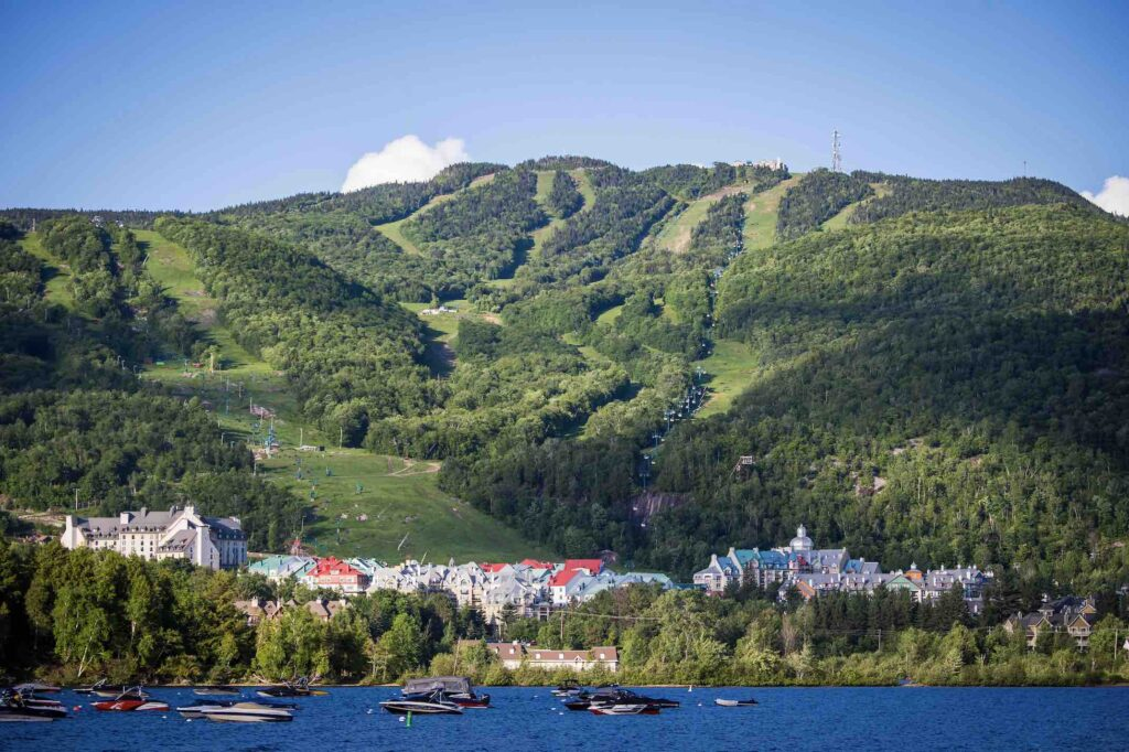Featured Image - things to do in Mont-Tremblant view of lake and village