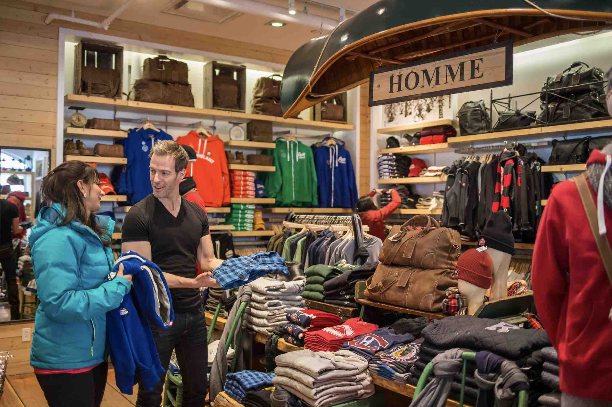 Shopping in Mont-Tremblant for sporting goods