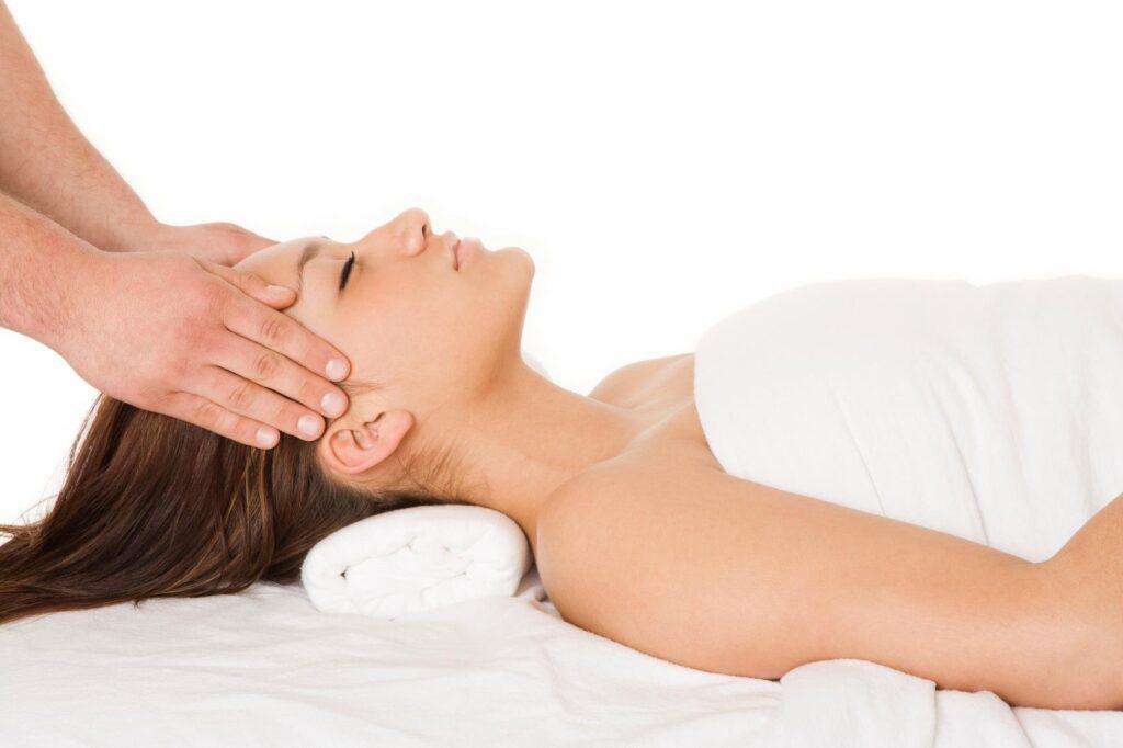 Faye Boulanger at Spa du Littoral woman having facial spa hotels in Quebec City